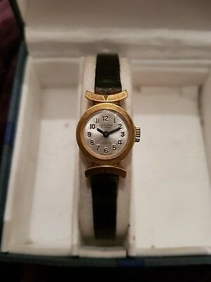 Vintage Excalibur 17 Jewels Watch Working Gold Plated Womens Swiss Made