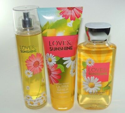 Bath and & Body Works - Love & Sunshine Shower Gel, Fragrance Mist, Cream (NEW)