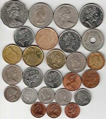 26 different world coins from FIJI some scarce
