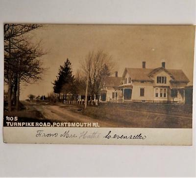 Antique Real Photo Turnpike Road Portsmouth R.I. Postcard RPPC by O. E. Dubois