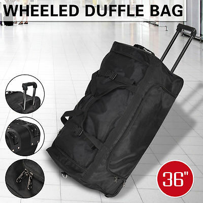 X Large Duffel Bag With Wheels Sports Travell Holliday Overnite Luggage Hottel