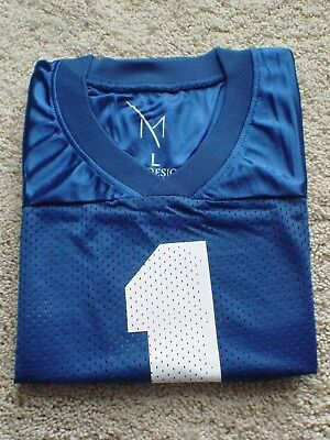 Blue Football Jersey - Short Sleeve - Large