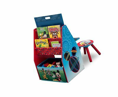 Delta Children Activity Center with Easel Desk, Stool, Toy Organizer, Disney ...