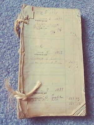 Old Book Of Receipts, Ledger Book   1935-36
