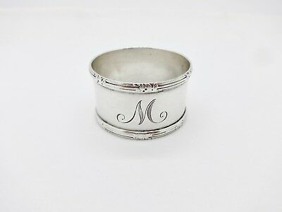 Vintage Raised Edges Sterling Silver Napkin Ring,m,nice Shape