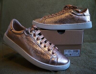 0437a441ce5 UGG MILO METALLIC SNEAKERS, US 8.5 Womens Color: SILVER , 1096356 ...