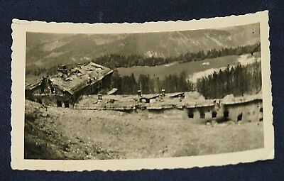 Original WWII US GI Photo of Berghof with Bomb Damage Printed on Agfa Paper