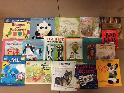 Lot of 100 K-5 Scholastic Learn to Read Picture Mix Set Kid Children Book K29 NR