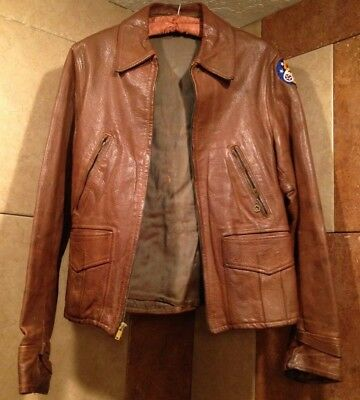U.S. Army Air Corps 5th Fifth vintage original ww2 leather jacket world war two