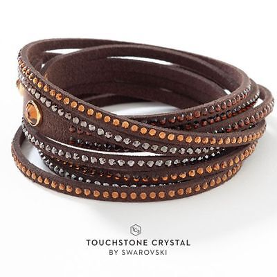 Touchstone Crystal by Swarovski Wrap Star Coconut Bracelet BNIB