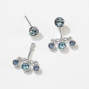 Touchstone Crystal by Swarovski Blue Cluster Earrings BNIB