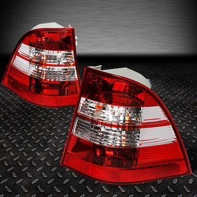 For 98-05 Mercedes Ml-Class W163 Red/clear Lens Tail Light Brake/reverse Lamps