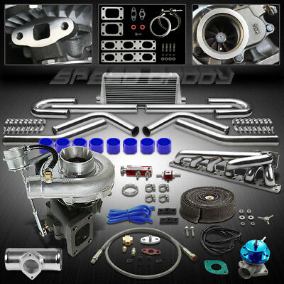 T04E T3/t4 9Pc Turbo Kit Turbocharger+Manifold+Intercooler 92-99 Bmw E36 325/328