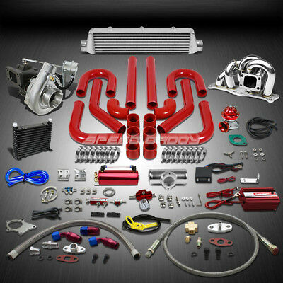 T04 .63Ar 400+Hp 15Pc Turbo Charger+Manifold+Intercooler Kit For 3Sgte Mr2/gt-S