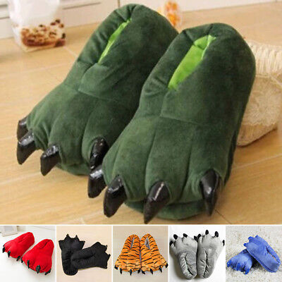 New Adult Cartoon Animal Cosplay Costume Slippers Dinosaur Claw Paw Shoes Indoor