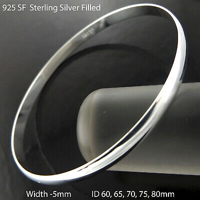 Hoop Earrings Real 925 Sterling Silver S/F Ladies Modern Italian Design