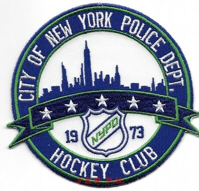 """*NEW* City of New York - HOCKEY CLUB (4.25"""" round) shoulder police patch (fire)"""