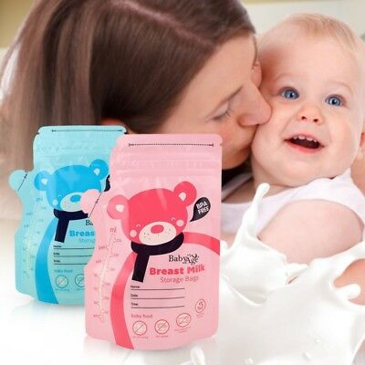 30Pcs Pre-sterilised Baby Breast Milk Storage Bags Pouches 250ml BPA Free USA