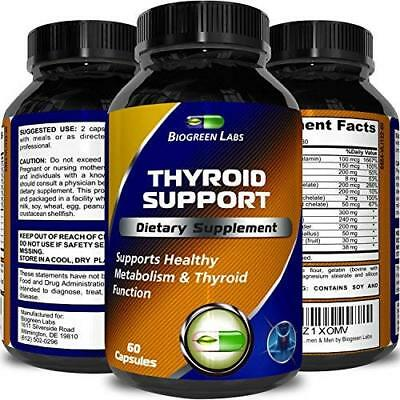 Natural Thyroid Support Dietary Supplement Improve Thyroid Function