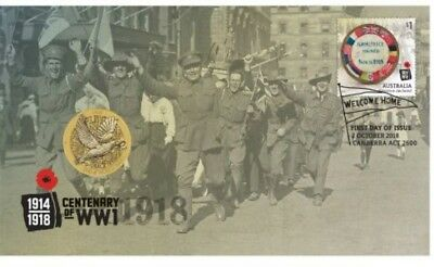 2018 END OF WORLD WAR 1 Stamp & Coin PNC