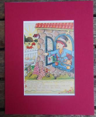 """Mary Engelbreit Print Matted 8 x 10"""" """"For Every Man"""" Boy"""