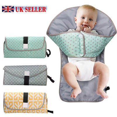 3 in 1 Foldable and Portable Baby Diaper Mat Changing Pad Clutch Station Travel