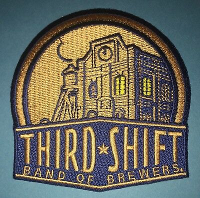 Rare Third Shift Brand Of Brewers Beer Coors Hat Hipster Jacket Patch Crest