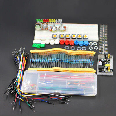 1X Generic Parts Kit & Power Module+ Breadboard+Flexible Cables+Jumper Wire Box