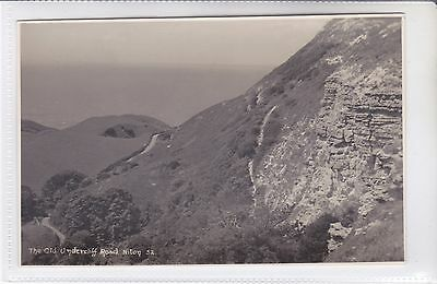 Rare Vintage Postcard The Old Undercliff Road Niton, Isle Of Wight