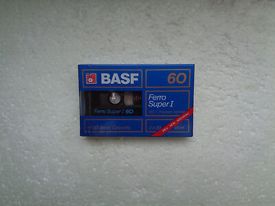 Vintage Audio Cassette BASF Ferro Super 60 * Rare From Germany 1988 *