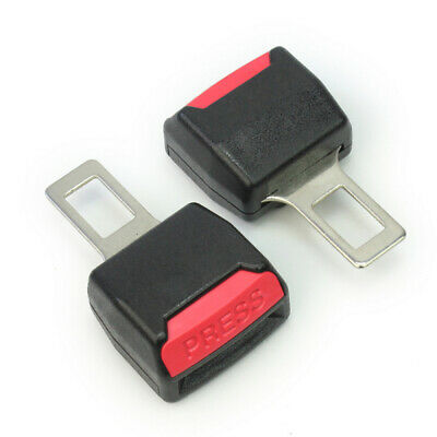 2 Pcs Universal Car Safety Adjustable Seat Belt Clip Buckle Extender Extension