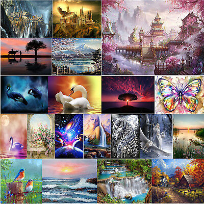 5D DIY Full Drill Diamond Painting Scenery Cross Stitch Embroidery Art Decor