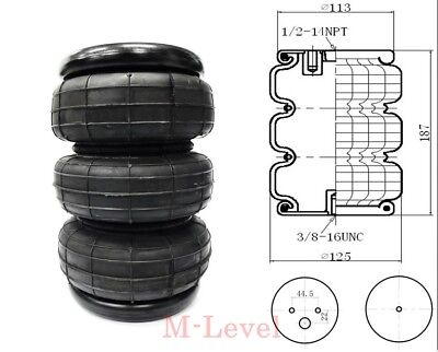 1 Universal Triple Air Bag spare replacement airbag Load Assist Suspension kit