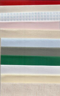 Grab Bag 14 count Aida Cross Stitch Fabric 125g of off-cuts of Aida fabric