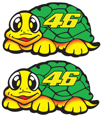 Valentino Rossi Turtle Sticker x2 38mm x 21mm
