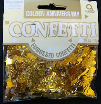 14g GOLDEN ANNIVERSARY CONFETTI GOLD 50 YEAR 50th PARTY TABLE DECORATION WEDDING