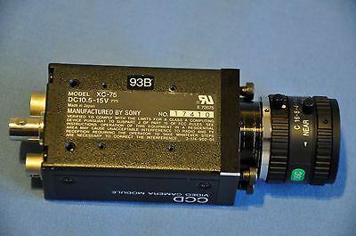 Sony CCD Video Camera Module XC-75+ Computar Objektiv TV Lens 12mm f/1,4 M1214MP