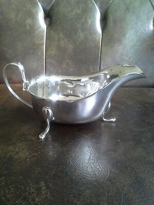 1938 Viners Hallmarked Silver Sauceboat. Never used.