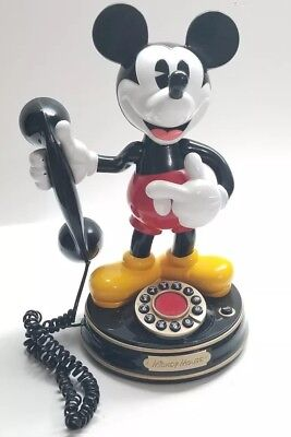 Vintage Disney Mickey Mouse Talking Rotary Phone