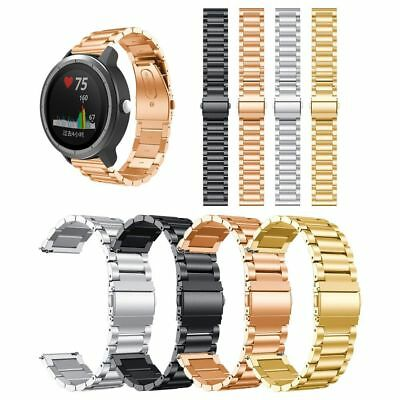 Stainless Steel Bracelet Wrist Band Strap For Garmin Vivoactive 3 Smart Watch