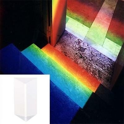 Optical Glass Triple Triangular Prism Physics Refractor Light Spectrum New