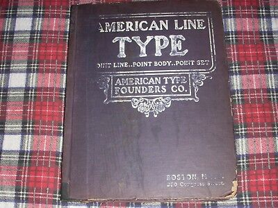 Letterpress: ca. 1903 American Typefounders Specimen book; Boston, 292-pages