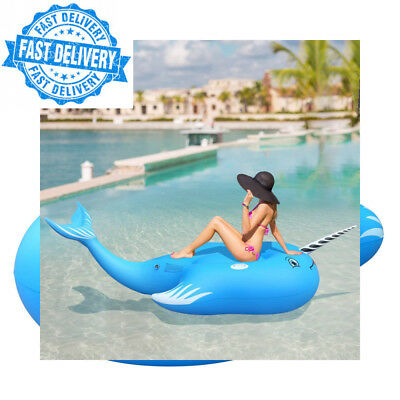 FEMOR Whale Giant Inflatable Animal Swimming Pool Floating Toy for Adult or kid