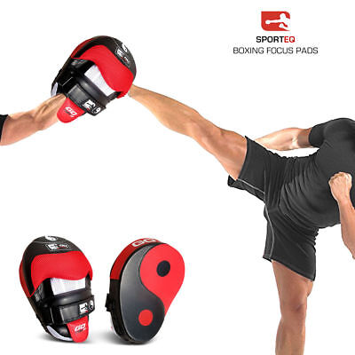 Boxing Focus Pads Hook and Jab Pro Fight Training Punch Gloves Curved Kick MMA