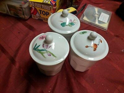 3 Glass Little Containers