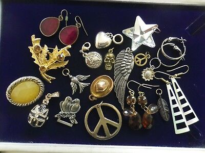 Mixed Lot Of Vintage & Modern Costume Jewellery Pieces As Seen-All Wearable