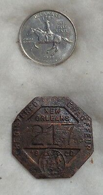 New Orleans Louisiana 1920 registered Chauffeur badge # 217