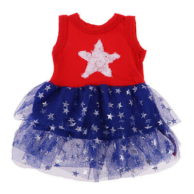 Girl Dolls Christmas Outfits - Stars Pattern Dress For 18 inch American Doll