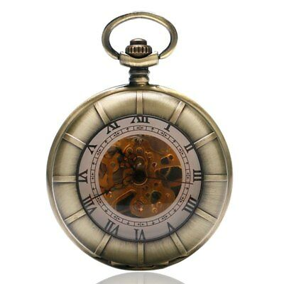 Men Vintage Antique Mechanical Pocket Watches Roman Numbers Women Pedant Gifts