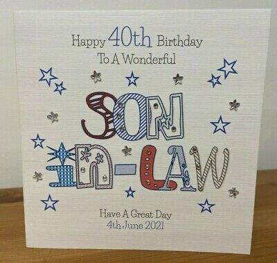 Handmade Personalised Birthday Card Son In Law 30th40th 50th 60th ANY AGE
